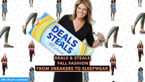 PHOTO: Deals & Steals: Fall fashion from sneakers to sleepwear (ABC News Photo Illustration, Jambu & co., Mahogany, Top It Off)