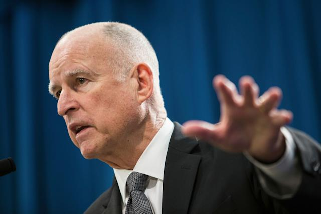 """Gov. Jerry Brown earlier said the goal """"is to block and not to collaborate withabuse of federal power."""""""