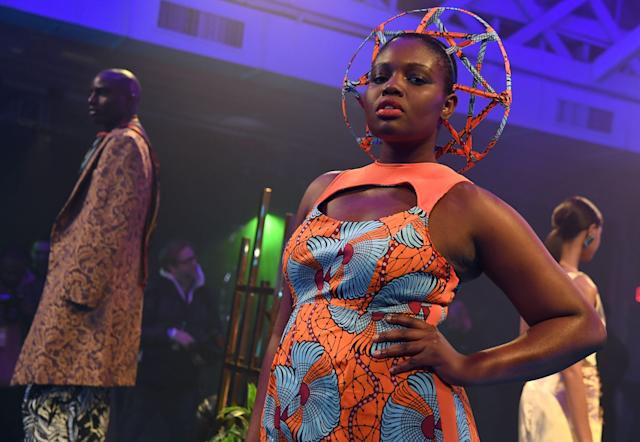 <p>Wakanda natural hairstyle is this? A masterpiece! (Photo: Getty Images) </p>