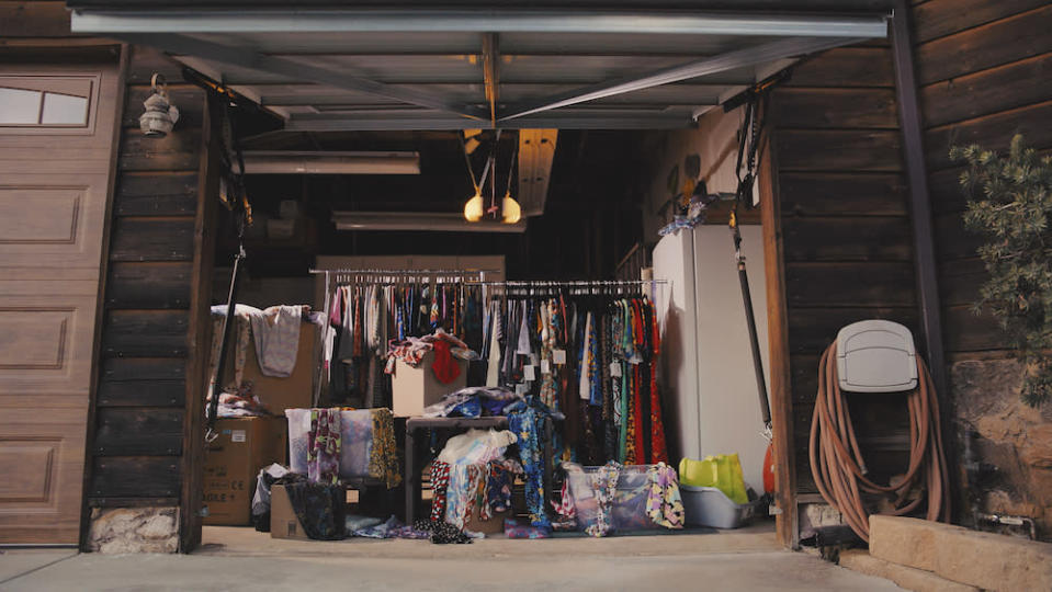 The full garage of a LuLaRoe consultant. - Credit: Courtesy of Amazon Prime Video