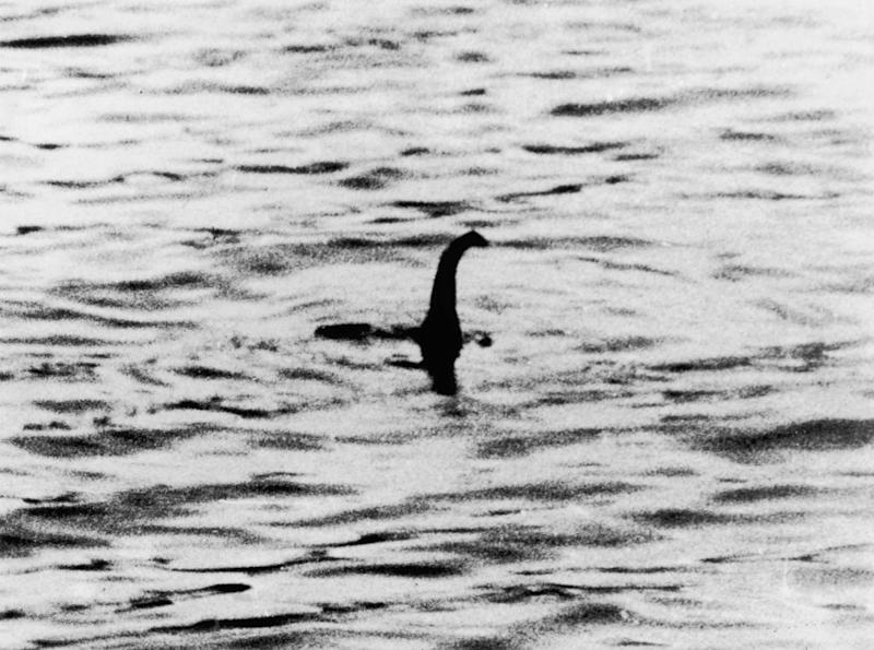 A view of the 'Loch Ness Monster,' near Inverness, Scotland, April 19, 1934. The photograph, one of two pictures known as the 'surgeon's photographs,' was allegedly taken by Colonel Robert Kenneth Wilson, though it was later exposed as a hoax. | Keystone—Getty Images