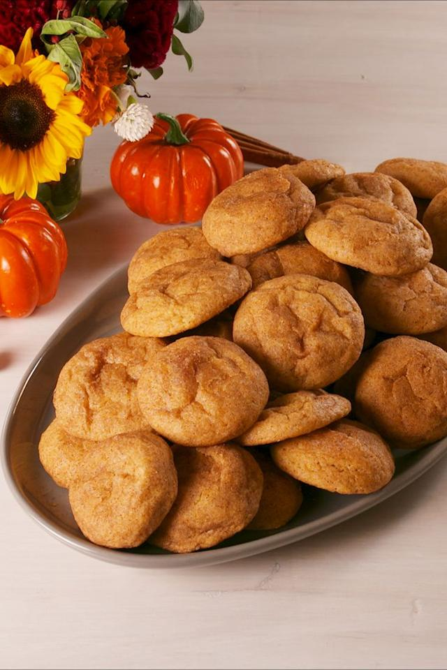 """<p>Go ahead and make a second batch. </p><p>Get the recipe from <a rel=""""nofollow"""" href=""""https://www.delish.com/cooking/recipe-ideas/a23941394/pumpkin-snickerdoodles-recipe/"""">Delish</a>. </p>"""