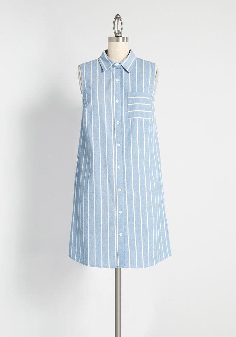 <p>This <span>Prep Outside Striped Shirt Dress</span> ($59) is one of Modcloth's bestsellers.</p>
