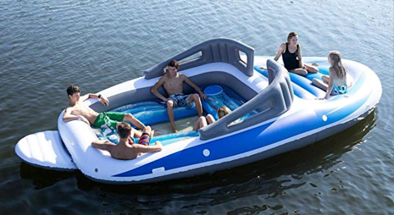 You can get this blow-up speedboat, complete with built-in cooler for £222. [Photo: Sun Pleasure]
