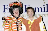 Eric Potts (left) and Bradley Walsh during a photocall to launch First Family Entertainment's, The National Launch for this year's pantomimes at The O2 Centre in Finchley in London. (Photo by PA Images via Getty Images)