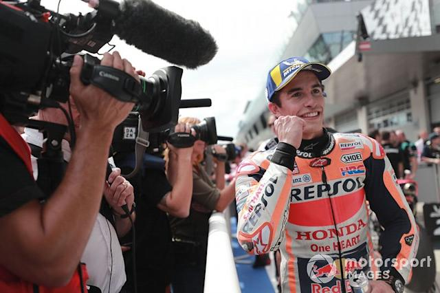 "Ganador de la pole Marc Márquez, Repsol Honda Team <span class=""copyright"">Gold and Goose / LAT Images</span>"