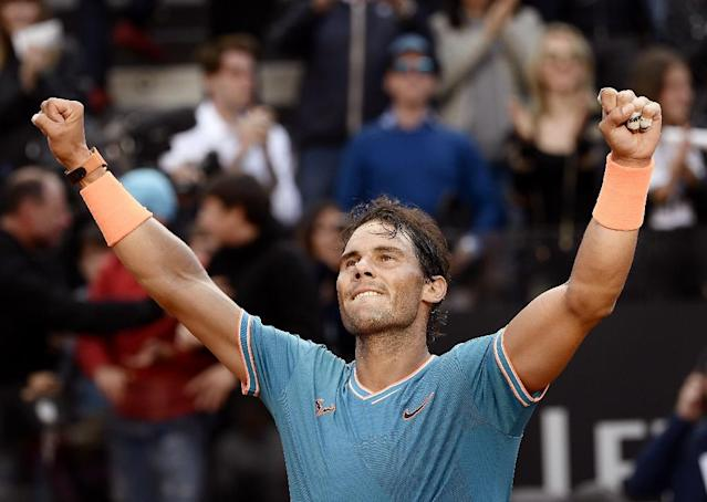 Rafael Nadal hits top form in Rome ahead of his bid for a 12th French Open title (AFP Photo/Filippo MONTEFORTE)