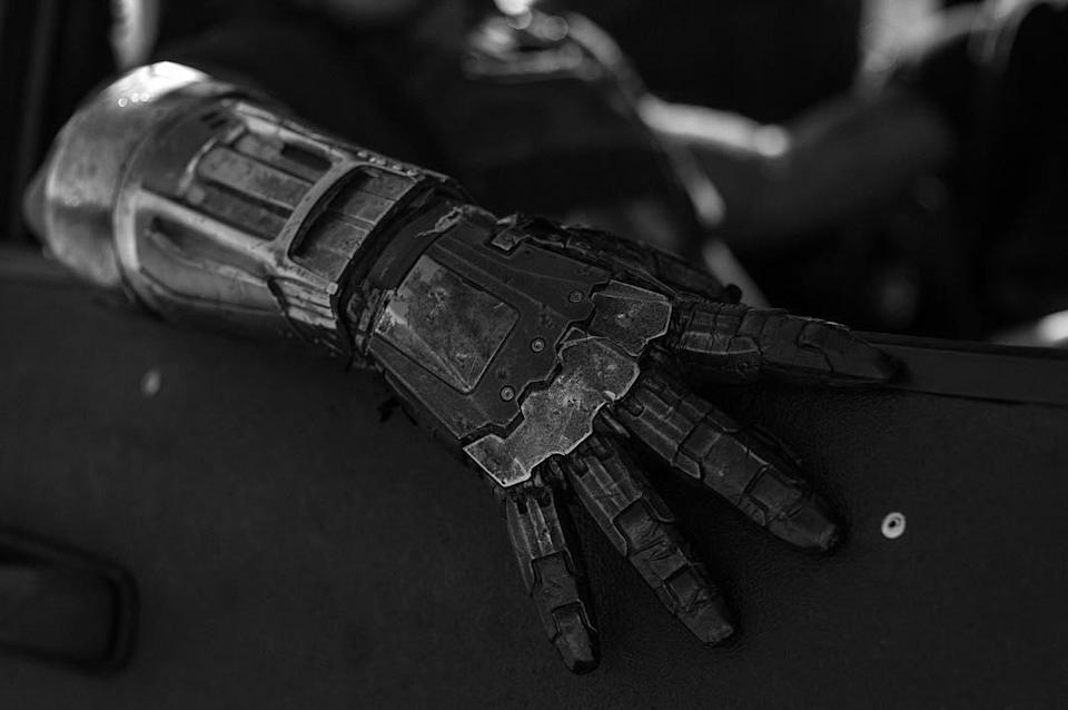 """<p>Whether this is a photo of Boyd Holbrook's Donald Pierce (who definitely has a mecha-hand), or one of his minions, Wolverine certainly won't be the only one with metal appendages in """"Logan."""" (Photo: <a rel=""""nofollow noopener"""" href=""""https://www.instagram.com/p/BM4Dyjcj0y7"""" target=""""_blank"""" data-ylk=""""slk:@wponx/Instagram"""" class=""""link rapid-noclick-resp"""">@wponx/Instagram</a>) </p>  <p>At Your 'Convenience'</p><p> While """"Logan"""" will take place in some sort of post-mutant-apocalypse universe, it appears that junk-food will survive. (Photo: <a rel=""""nofollow noopener"""" href=""""https://www.instagram.com/p/BM4Dyjcj0y7"""" target=""""_blank"""" data-ylk=""""slk:@wponx/Instagram"""" class=""""link rapid-noclick-resp"""">@wponx/Instagram</a>) </p>  <p>Not at 'Liberty' to Say…</p><p> No clues yet as to the role this Motor Motel will play in 'Logan,' but it gets across the gone-to-seed nature of the world Wolverine now inhabits. (Photo: <a rel=""""nofollow noopener"""" href=""""https://www.instagram.com/p/BM4Dyjcj0y7"""" target=""""_blank"""" data-ylk=""""slk:@wponx/Instagram)"""" class=""""link rapid-noclick-resp"""">@wponx/Instagram)</a> </p>  <p>In the Still of the Night</p><p> This moody black-and-white nighttime shot features Jackman's hero, alone, in the aftermath of a kill, giving its caption, 'Silence,' a double meaning. (Photo: <a rel=""""nofollow noopener"""" href=""""https://www.instagram.com/p/BM4Dyjcj0y7"""" target=""""_blank"""" data-ylk=""""slk:@wponx/Instagram"""" class=""""link rapid-noclick-resp"""">@wponx/Instagram</a>) </p>  <p>Choose Your 'Weapon'</p><p> Did you think Wolverine was going to restrict himself to just his adamantium claws in combat? Seems a steel rod of some sort may also come in handy as a tool of anti-Reaver destruction. (Photo: <a rel=""""nofollow noopener"""" href=""""https://www.instagram.com/p/BM4Dyjcj0y7"""" target=""""_blank"""" data-ylk=""""slk:@wponx/Instagram)"""" class=""""link rapid-noclick-resp"""">@wponx/Instagram)</a> </p>  <p> In this storyboard of Wolverine eyeing a motel from a distance, artist Gabriel Hardman captures the bleak, border"""