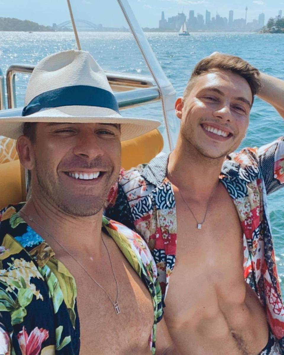 Hugh Sheridan has finally confirmed his new relationship with TikTok star and model Kurt Roberts after rumours the pair was dating began in January. Photo: Instagram/Kurt Roberts