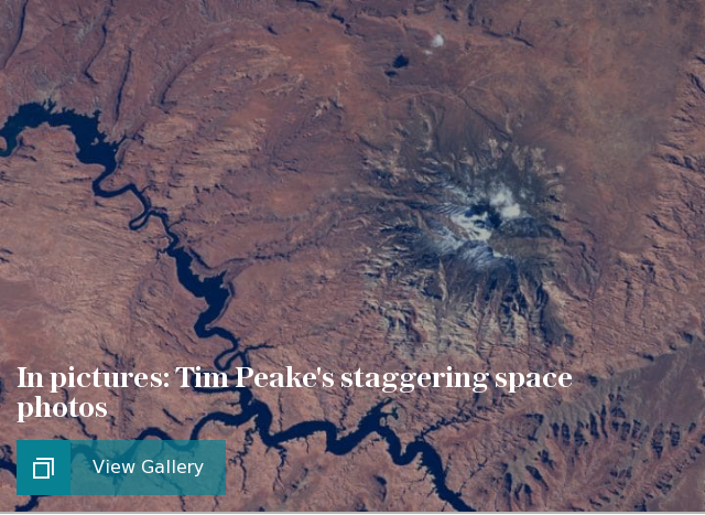 Tim Peake space pictures