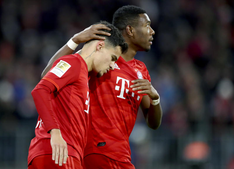 Coutinho stars as Bayern bounces back to rout Bremen 6-1