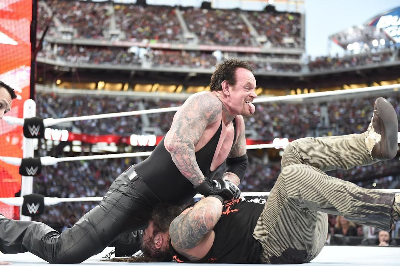 "<p>With the Deadman licking his wounds after his defeat to Brock Lesnar a year earlier, Bray Wyatt <a href=""https://www.digitalspy.com/tv/ustv/a638727/13-amazing-moments-from-wrestlemania-31/"" target=""_blank"">carried an entire feud with The Undertaker single-handed on the way to WrestleMania 31</a>.</p><p>In the end though, it was all for nowt. The Undertaker sat up once more and after a close-fought battle got back on track by beating the then-Wyatt Family patriarch.</p><p>Wyatt was able to get a measure of revenge when he intervened in Taker's battle with Brock Lesnar, but when it all shook out once more, Undertaker (and Kane) got the better of Wyatt and his goons.</p><p>But that was then. A few years on, reborn as 'The Fiend' and holding the WWE Universal Championship, surely Wyatt must fancy his chances of putting the Deadman down for good?</p>"