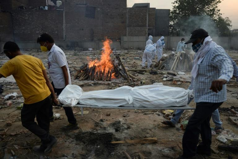 India is the world's second-most infected after the United States with nearly 23 million Covid-19 cases, and is currently recording more than 300,000 new cases and close to 4,000 deaths each day