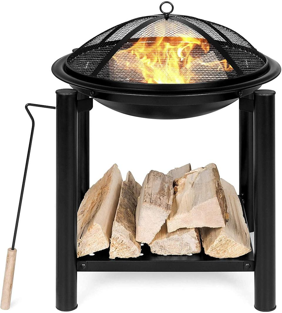 <p>Store wood in a convenient spot with this <span>Best Choice Products 21.5-Inch Outdoor Fire Pit Bowl</span> ($60).</p>