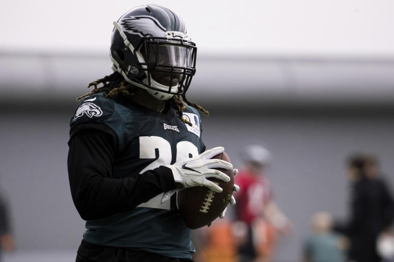 Philadelphia Eagles running back Jay Ajayi is out for the season, but took out an insurance policy in case he got injured. (AP)