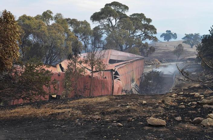 Bushfires are common in Australia's hotter months (AFP Photo/Brenton Edwards)