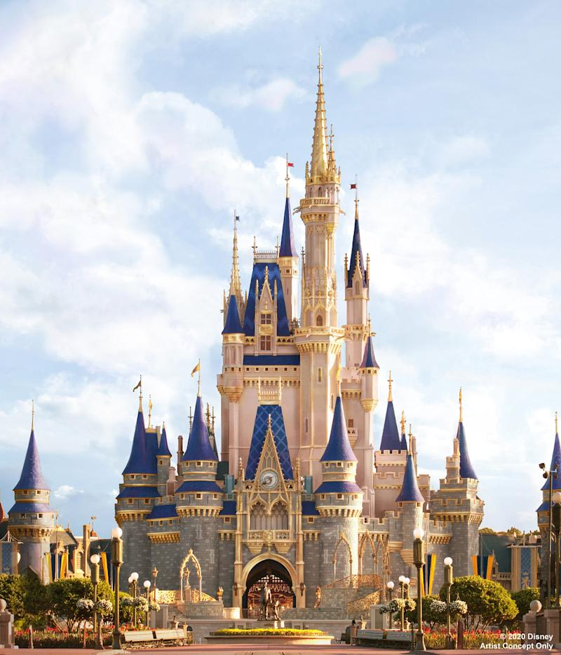 ARTIST CONCEPT ONLY: Cinderella Castle is about to become even more magical inside Magic Kingdom Park at Walt Disney World Resort in Lake Buena Vista, Fla. In honor of the 70th anniversary of the Disney Animation classic film