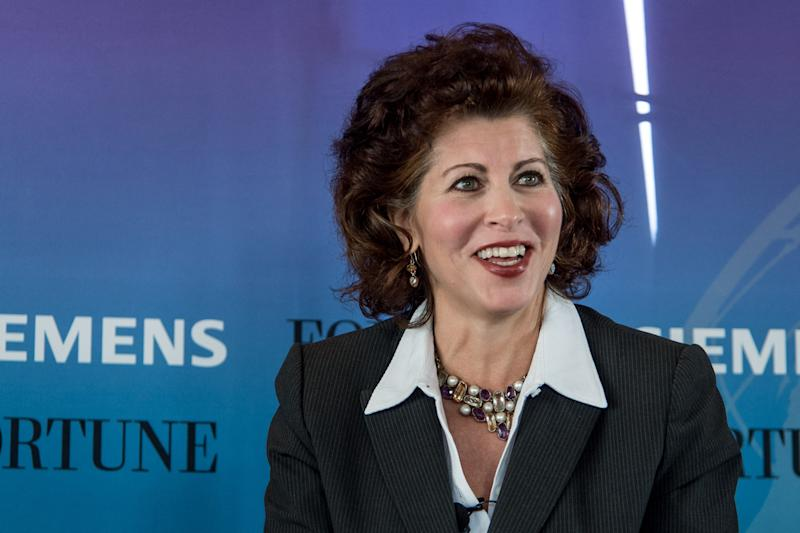 Jacqueline Hinman, CEO of CH2M speaks at the Fortune Global Forum in 2015