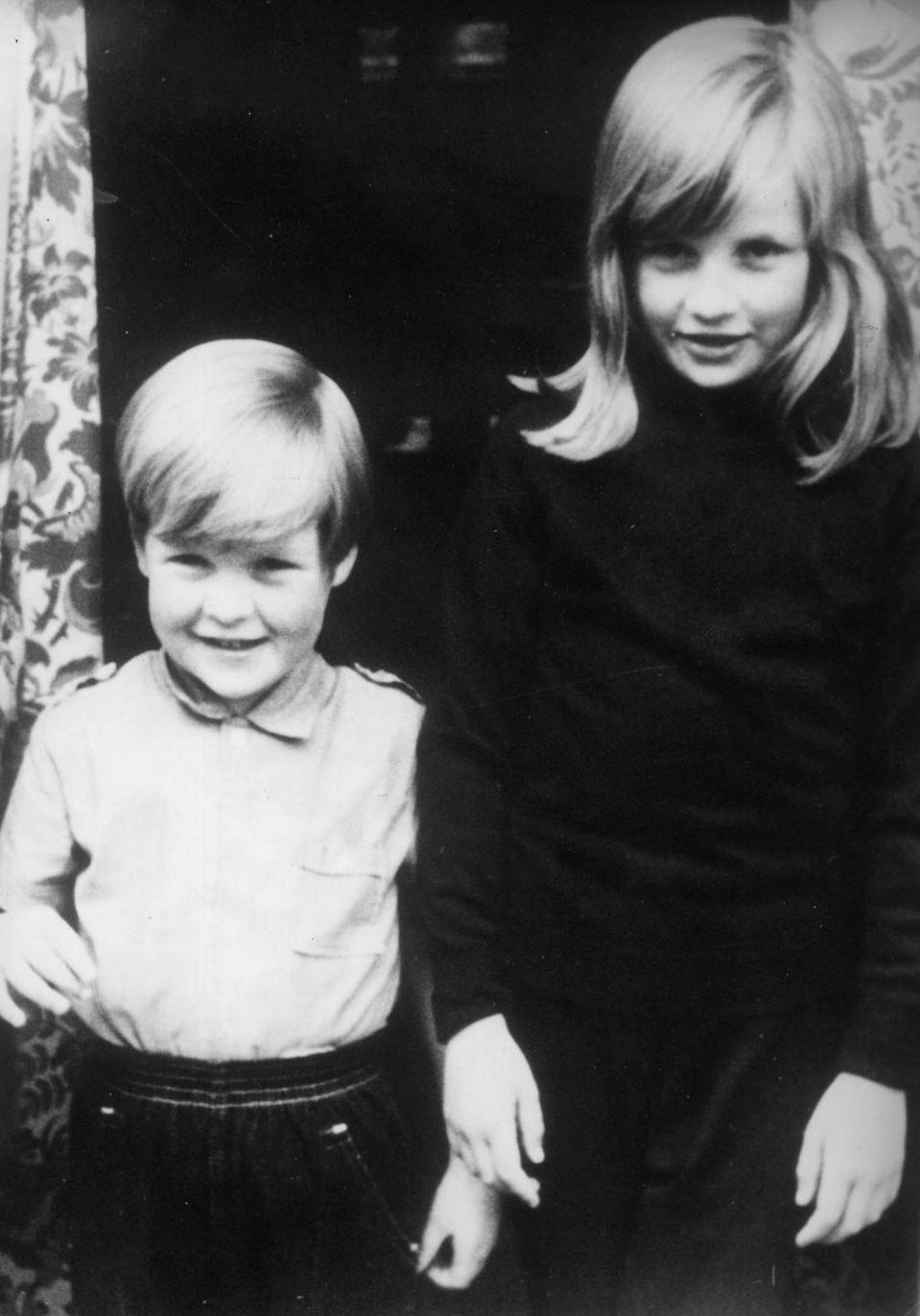 "<p>Diana with her brother Charles at their home in Berkshire. <br>""Diana deserves a place in history,"" Charles <a href=""http://abcnews.go.com/Entertainment/princess-dianas-brother-speaks-special-person-beautiful/story?id=48339064"" rel=""nofollow noopener"" target=""_blank"" data-ylk=""slk:would say"" class=""link rapid-noclick-resp"">would say</a> after her death. ""This was a special person, and not just a beautiful one.""</p>"