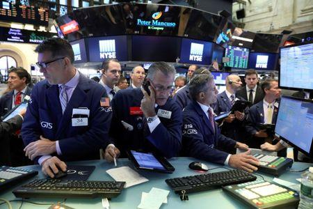Wall St lower as investors weigh rising N. Korea tensions