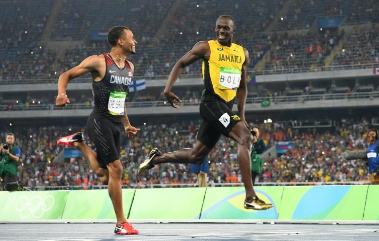 Andre De Grasse's audacious grin at Usain Bolt during the Rio Olympics became one of the picture of that Games