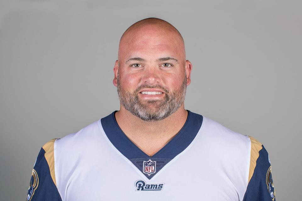 Rams veteran offensive lineman Andrew Whitworth has challenged teammates to step up in the wake of Thursday's mass shooting in Thousand Oaks, Calif., where the team practices. (AP)