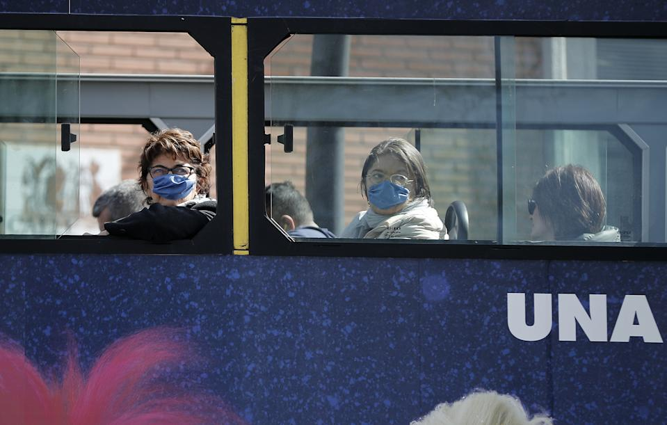 MADRID, SPAIN - MARCH 10: People wear medical masks as a precaution against coronavirus in Madrid, Spain on March 10, 2020. (Photo by Burak Akbulut/Anadolu Agency via Getty Images)