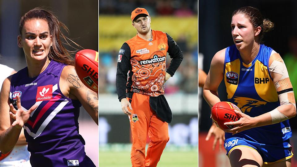 Seen here, three West Australian sporting teams that are affected by the state's Covid-19 lockdown.