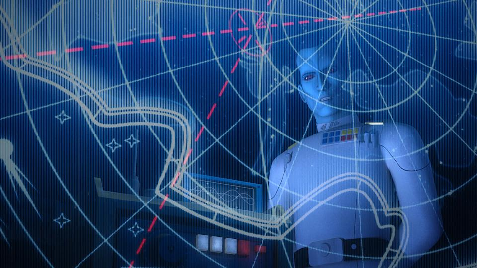 Grand Admiral Thrawn in a scene from <em>Star Wars Rebels.</em> (Photo: Disney XD/Courtesy Everett Collection)