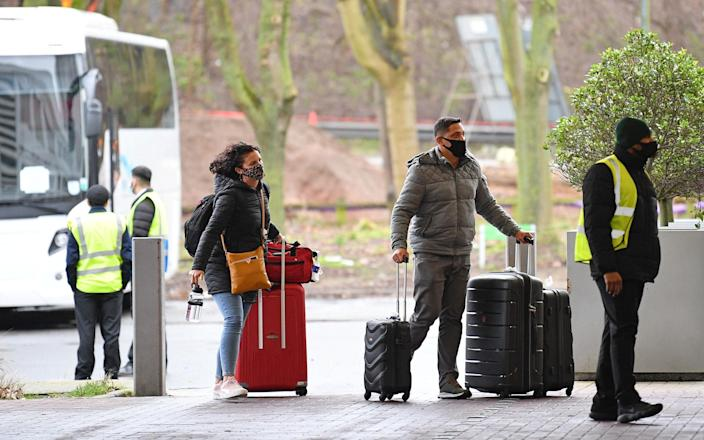 Arriving into the UK from 'red-listed' countries means mandatory hotel quarantine - AFP / GETTY