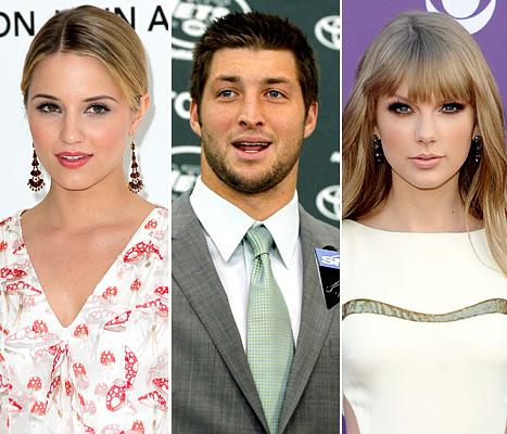 Dianna Agron and Tim Tebow Deny Love Triangle With Taylor Swift