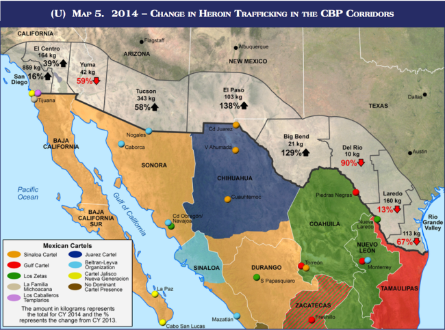 These maps from the DEA show that 'El Chapo' Guzmán basically ... on