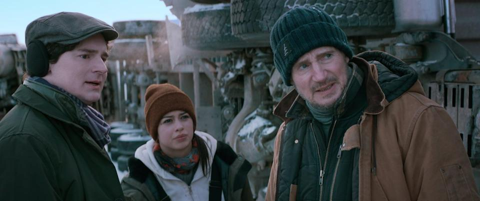 """<p>Liam Neeson stars as an ice-road trucker who is tasked with saving the lives of miners trapped in a collapsed diamond mind. Things don't look good as its only a matter of time before the frozen ocean that stands between them and salvation begins to thaw.</p> <p><strong>When it's available: </strong><a href=""""https://www.netflix.com/title/81438065"""" class=""""link rapid-noclick-resp"""" rel=""""nofollow noopener"""" target=""""_blank"""" data-ylk=""""slk:June 25"""">June 25</a></p>"""