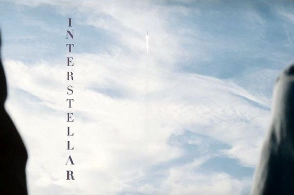 "Title screen from the first teaser trailer for ""Interstellar,"" the 2014 science fiction film by director Christopher Nolan."