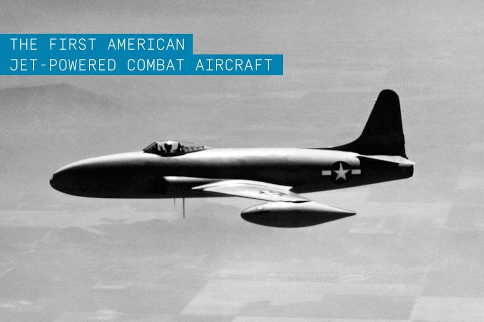 """<p>Despite its very dangerous development period, which killed two <a href=""""https://www.popularmechanics.com/flight/g2323/greatest-flying-aces/"""" rel=""""nofollow noopener"""" target=""""_blank"""" data-ylk=""""slk:top aces"""" class=""""link rapid-noclick-resp"""">top aces</a> and broke the back of another test pilot, the United States' <a href=""""https://www.popularmechanics.com/flight/g2769/12-american-fighter-planes-never-existed/"""" rel=""""nofollow noopener"""" target=""""_blank"""" data-ylk=""""slk:first turbo-jet powered combat aircraft"""" class=""""link rapid-noclick-resp"""">first turbo-jet powered combat aircraft</a> helped to bring about the jet age. </p><p><strong>✈ <a href=""""https://www.popularmechanics.com/military/aviation/a28250/usaf-anniversary-5-fighters/"""" rel=""""nofollow noopener"""" target=""""_blank"""" data-ylk=""""slk:5 Fighters That Show the History of the U.S. Air Force"""" class=""""link rapid-noclick-resp"""">5 Fighters That Show the History of the U.S. Air Force</a></strong></p><p>Beginning its service at the close of World War II, the aircraft was used extensively during operations in the Korean War. But its straight <a href=""""https://www.popularmechanics.com/flight/airlines/a32972180/winglet-history/"""" rel=""""nofollow noopener"""" target=""""_blank"""" data-ylk=""""slk:wing design"""" class=""""link rapid-noclick-resp"""">wing design</a> was no match for the swept-wing transonic MiG-15. The jet fighter went on to perform ground attack missions and serve as an advance trainer until it was replaced by the swept-wing <a href=""""https://www.popularmechanics.com/military/aviation/a28750929/buy-a-fighter-jet/"""" rel=""""nofollow noopener"""" target=""""_blank"""" data-ylk=""""slk:F-86 Sabre"""" class=""""link rapid-noclick-resp"""">F-86 Sabre</a>.</p>"""