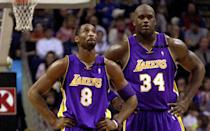 <p>The tension between Shaq and Kobe started almost immediately when they joined forces on the Lakers in 1996 and it never stopped until the day Shaq was traded to Miami in 2004. Shaq thought Kobe was a young, selfish player while Kobe didn't like Shaq's joking and prodding of the then-young star. The two of them provided an undeniably lethal combination on the court, which is a big reason they led the Lakers to three straight NBA titles from 2000-2002. But the two continued to butt heads over who was the alpha dog of the team, and eventually their clashing egos came to a head with Shaq's trade to the Heat following L.A.'s stunning loss to the Pistons in the 2004 NBA Finals. </p>