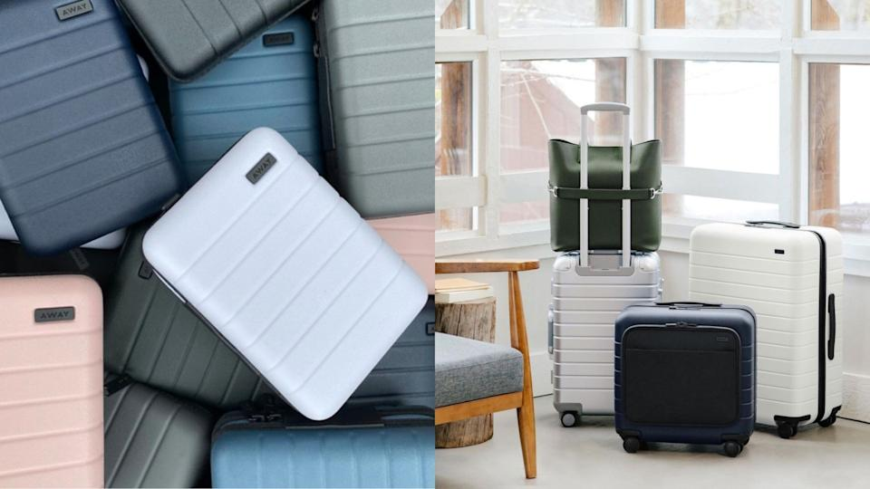 Save up to 30% on luggage during Away's limited-time sale. (Images via Instagram/Away)