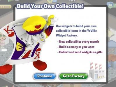 YoVille Build Collectibles with Widgets