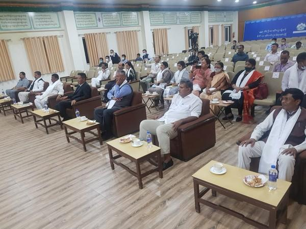 MPs visiting Central Tibetan Administration in Dharamshala (Photo/ANI)
