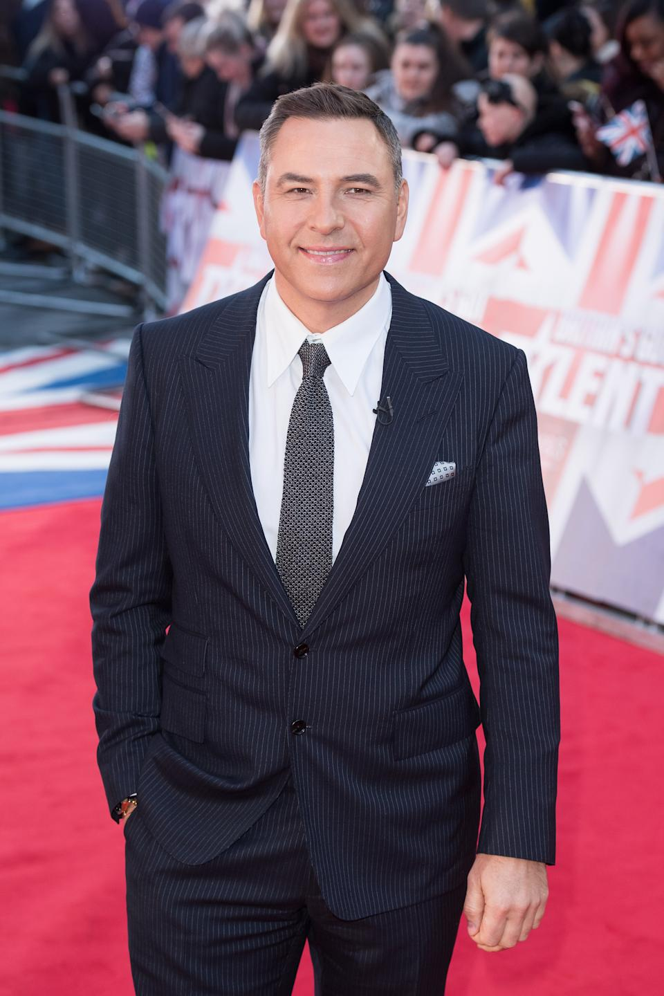 David Walliams attends the Britain's Got Talent 2020 photocall at London Palladium on January 19, 2020 in London, England. (Photo by Jeff Spicer/WireImage)