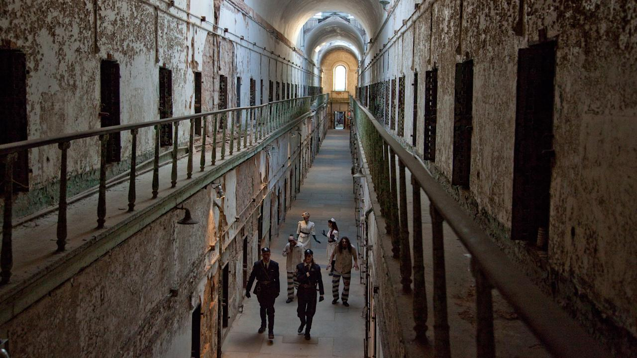 "<p>The first capital city of the United States is rife with dark history, making it quite the haunted destination. The <em>Terror Behind the Walls </em>event<em> at </em><a rel=""nofollow"">Eastern State Penitentiary</a> is particularly frightening with maniacal surgeons, orderlies, dentists, and nurses all roaming the grounds of the jail, sharpening their scalpels for some unusual unnatural operations. Eastern State Penitentiary was once the most-famous and expensive prison in the world, but today stands in ruin, a lost world of crumbling cellblocks and empty guard towers and one of the scariest places to spend Halloween for sure. Photo: Eastern State Penitentiary </p>"
