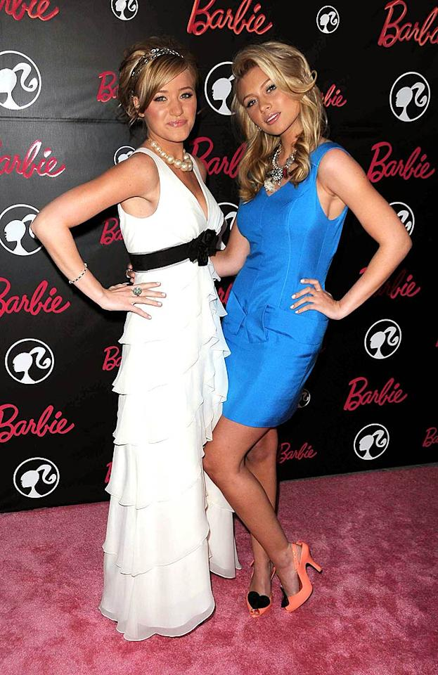 "Wonder if sisters AJ and Aly Michalka fought over their Barbies as kids? Entertainment Press/<a href=""http://www.splashnewsonline.com/"" target=""new"">Splash News</a> - March 9, 2009"