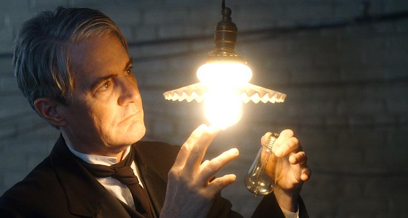 As Thomas Edison, Kyle MacLachlan's winning smile here turns hollow and smugLionsgate UK