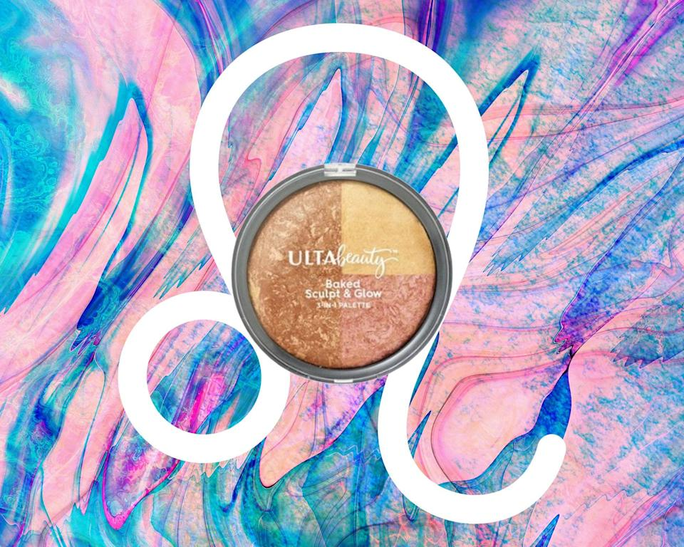 """<h1 class=""""title"""">August Leo Horoscope - Ulta Baked Sculpt & Glow 3-in-1 Palette</h1> <div class=""""caption""""> <em>All products featured on Allure are independently selected by our editors. However, when you buy something through our retail links, we may earn an affiliate commission.</em> </div> <cite class=""""credit"""">Courtesy of brand / Allure: Rosemary Donahue</cite>"""