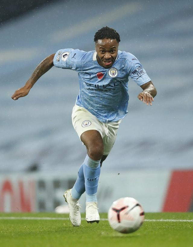 Raheem Sterling is a fitness doubt for City