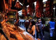 FILE PHOTO: People shop at the Spice Market also known as the Egyptian Bazaar in Istanbul