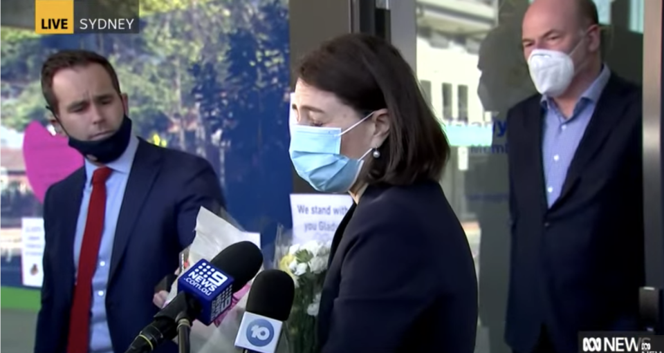 Gladys Berejiklian makes first public appearance since resigning.