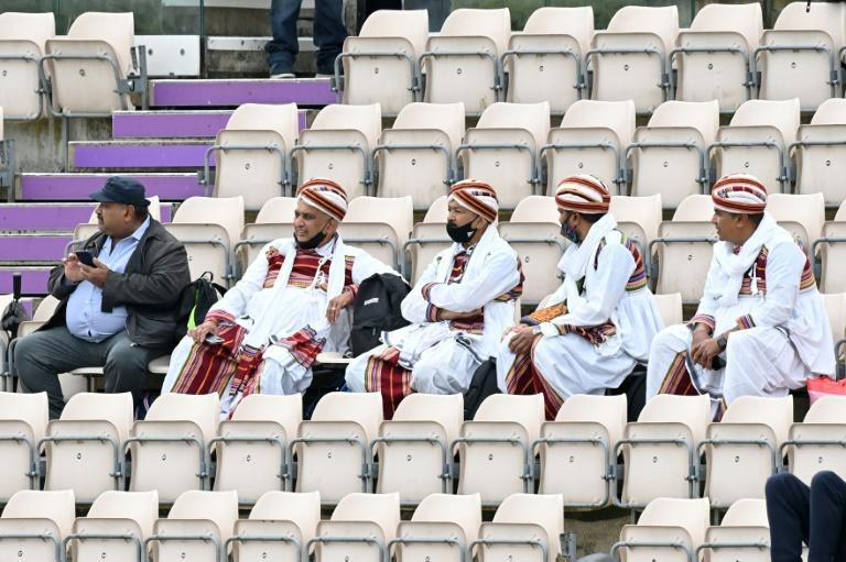 Patient fans - India supporters wait for the fifth day of the World Test Championship final against New Zealand at Southampton to get underway