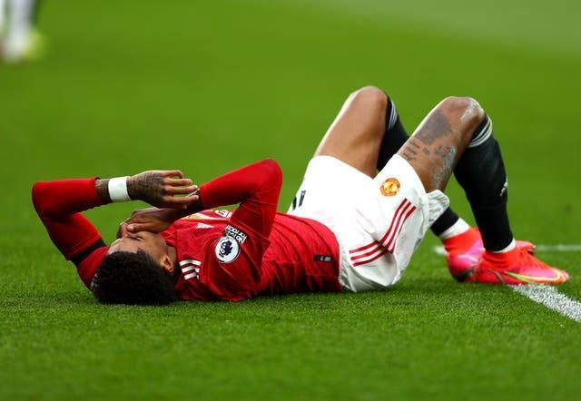 Marcus Rashford has been in discomfort this month