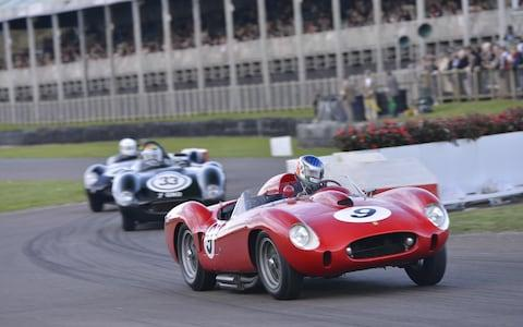 Ferrari 250TR racing at Goodwood Revival